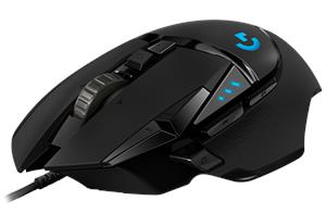 Miš Logitech G502 Hero RGB, Gaming, optički, 16000dpi, crni, USB