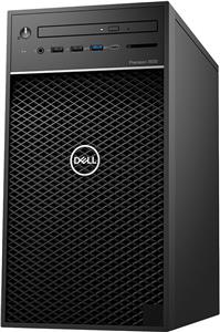 Dell Precision T3630 w/460W up to 90% efficient PSU, Intel Xeon E-2124G, 4 Core, 8MB Cache, 3.4GHz, 4.5Ghz Turbo, 8GB (1x8GB) 2666MHz DDR4 UDIMM Non-ECC, M.2 256GB PCIe NVMe, Intel UHD 630, 8x DVD+/-